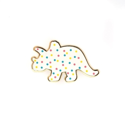 Picture of LuxCups Triceratops Cookie Cloisonne Pin