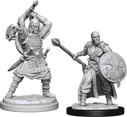Picture of Dungeons and Dragons Nolzur's Marvellous Unpainted Human Male Barbarian Miniatures
