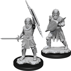 Picture of Dungeons and Dragons Nolzur's Marvelous Unpainted Human Male Fighter Miniatures