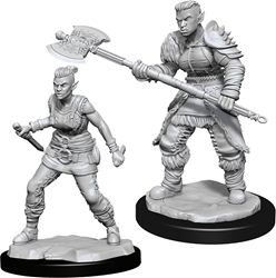 Picture of Dungeons and Dragons Nolzur's Marvellous Unpainted Orc Female Barbarian Miniatures