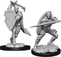 Picture of Dungeons and Dragons Nolzur's Marvelous Unpainted Warforged Male Fighter Miniatures