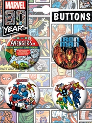 Picture of Avengers 80th Anniversary 4 Button Set