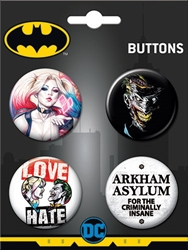 Picture of DC Harley and Joker 4 Button Set