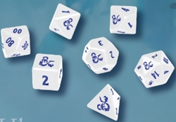 Picture of Dungeons and Dragons Icewind Dale Heavy Metal D20 White and Blue Set
