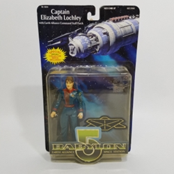 Picture of Babylon 5 Captain Elizabeth Lochley with Earth Alliance Command Staff Patch Action Figure
