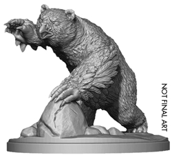 Picture of Dungeons and Dragons RPG Icewind Dale Rime of the Frostmaiden Snowy Owlbear Miniature