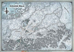Picture of Dungeons and Dragons RPG Icewind Dale Map 30in x 21in