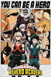"""Picture of My Hero Academia Be A Hero 24""""x36"""" Poster"""
