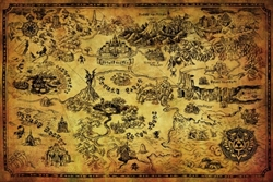 "Picture of Legend of Zelda Map 24"" x 36"" Poster"