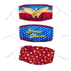 Picture of Wonder Woman 3 Pack Adjustable Face Covers