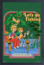 Picture of Steven Rhodes Let's Go Fishing Framed Print