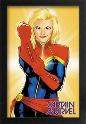 Picture of Captain Marvel Gloves Framed Print