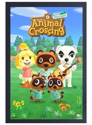 Picture of Animal Crossing NH Group Framed Print