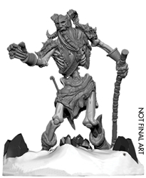 Picture of Dungeons and Dragons Icewind Dale Rime of the Frostmaiden Frost Giant Skeleton Miniature