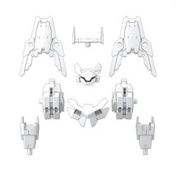 Picture of Option Armor #29 Cielnova Exclusive White for Commander 30MM 1/144 Model Kit