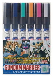 Picture of Gundam Marker Gundam Metallic Marker Set 2