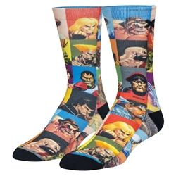 Picture of Street Fighter Select Your Fighter Mens Crew Socks