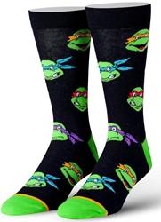 Picture of Teenage Mutant Ninja Turtles Retro Heads Mens Straight Crew Socks