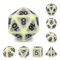 Picture of Yellow Apatite Dice Set