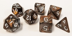 Picture of Gold and Silver Blend Dice Set