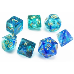 Picture of Nebula Oceanic/Gold Polyhedral 7-Die Set