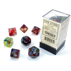 Picture of Nebula Primary/Blue Polyhedral 7-Die Set
