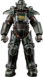 Picture of Fallout T-45 NCR Salvaged Power Armor Threezero Figure