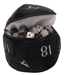 Picture of D20 Black Plush Dice Bag