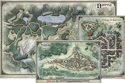 Picture of Dungeons and Dragons RPG Curse of Strahd Map Set 24in x16in, 14in x 9in, 13in x10in