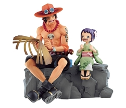 Picture of One Piece Emorial Vignette Ace and Otama Figure
