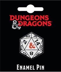Picture of Dungeons and Dragons D20 Enamel Pin