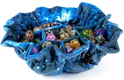Picture of Velvet Compartment Dice Bag with Pockets Galaxy