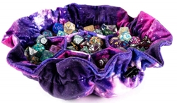 Picture of Velvet Compartment Dice Bag with Pockets Nebula