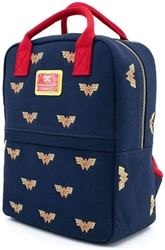 Picture of Wonder Woman Logo Canvas All Over Print Mini Backpack