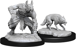 Picture of Dungeons and Dragons Nolzur's Marvellous Unpainted Jackalwere and Jackal Miniatures