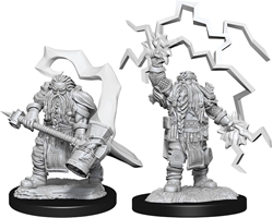 Picture of Dungeons and Dragons Nolzur's Marvellous Unpainted Dwarf Male Cleric Miniatures