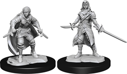 Picture of Dungeons and Dragons Nolzur's Marvellous Unpainted Half-Elf Female Rogue Miniatures