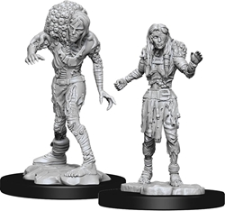 Picture of Dungeons and Dragons Nolzur's Marvellous Unpainted Drowned Assassin and Drowned Asetic Miniatures