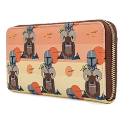 Picture of Loungefly x Star Wars Mandalorian Bantha Ride All-Over-Print Zip Around Wallet