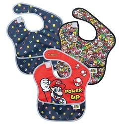 Picture of Nintendo Super Mario Power Up Mashup Lineup SuperBib 3-Pack