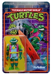 Picture of Teenage Mutant Ninja Turtles Sewer Surfer Michelangelo ReAction Figure