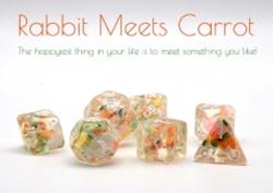 Picture of Dice Set Rabbit Meets Carrots 7-Piece Set