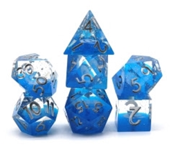 Picture of Dice Set Space Blue White 7-Piece Set