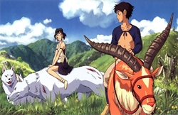"""Picture of Princess Mononoke Together 11"""" x 17"""" Counter Top Poster"""