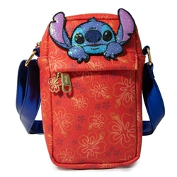 Picture of Lilo and Stitch Stitch Patch with Hibiscus Flower Women's Crossbody Purse