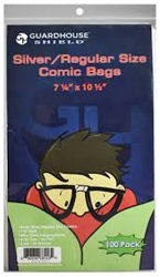 Picture of Silver Comic Bags 100 pack
