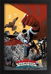 Picture of Captain America Sam Wilson Framed Print