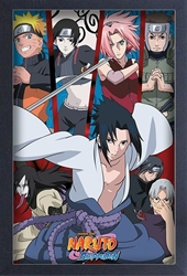 Picture of Naruto Shippuden Group Framed Print