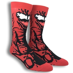 Picture of Marvel Carnage Character 360 Mens Crew Sock