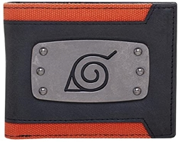 Picture of Naruto Metal Badge Canvas Bifold Wallet